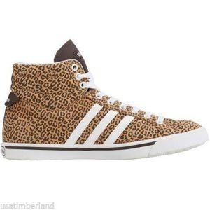 Adidas Neo Label Cheetah Print High Top Sneakers